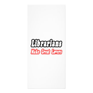 Os bibliotecários fazem grandes amantes panfleto informativo