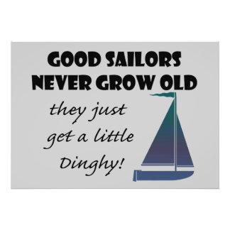 Os bons marinheiros nunca crescem idosos, impressão de foto