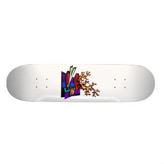 Os bonsais ainda vivem imagem gráfica shape de skate 20cm