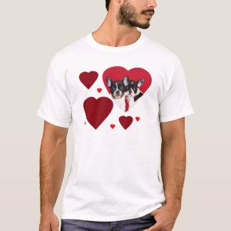 Os buldogues franceses dos namorados camiseta