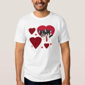 Os buldogues franceses dos namorados t-shirt