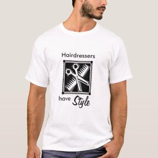 Os cabeleireiro têm o estilo tshirt
