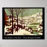 Os caçadores na neve - 1565 poster