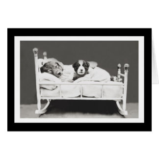 Os cães bonitos do sono pelo Harrier Whittier Cartão Comemorativo