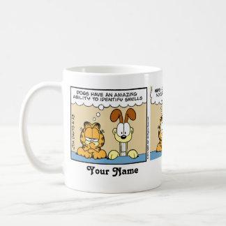 """Os """"cães identificam banda desenhada de Garfield Caneca De Café"""
