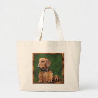 Os cães querem para fora! bolsa tote grande