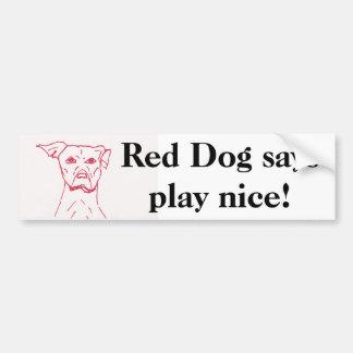 Os cães vermelhos dizem adesivo para carro