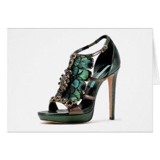 Os calçados do pavão das citações de Cinderella Cartão