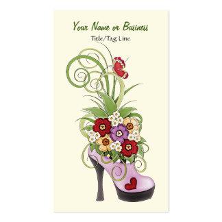 Os calçados do salto alto florescem o negócio ou o cartão de visita