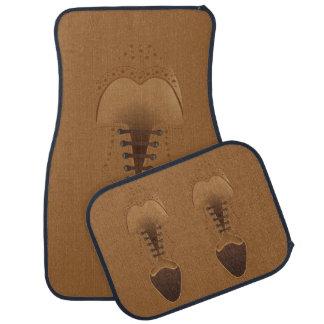 Os calçados dos homens do couro da forma de Brown Tapete Automotivo
