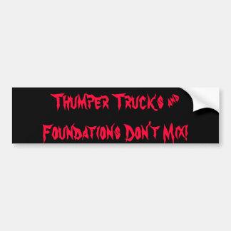 Os caminhões e as fundações do batedor não mistura adesivos