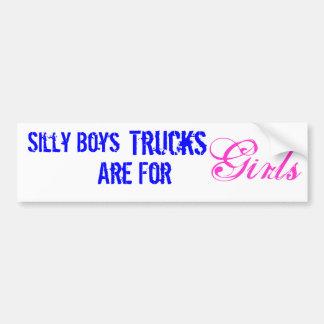 Os caminhões são para meninas adesivo para carro