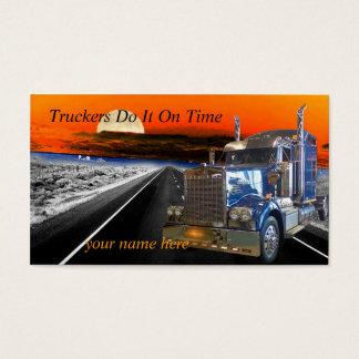 Os camionistas fazem-no no tempo fazem um cartão