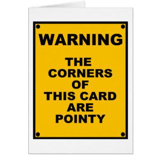 Os cantos deste cartão são paródia Pointy do ~