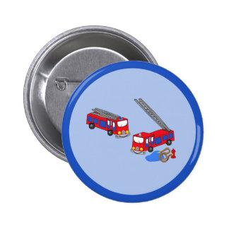 Os carros de bombeiros vermelhos do bombeiro boton