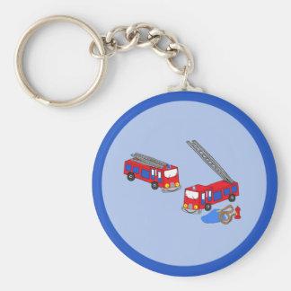 Os carros de bombeiros vermelhos do bombeiro chaveiros