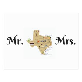 Os cartão dos Newlyweds de Texas