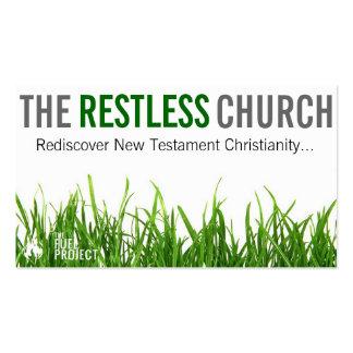 Os cartões agitados da igreja cartão de visita