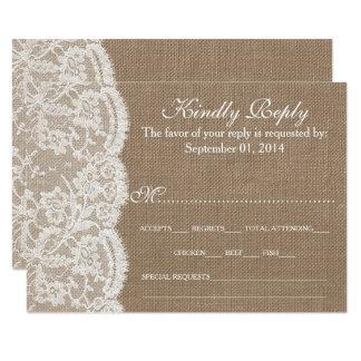 Cartão Os cartões da coleção RSVP de serapilheira & de