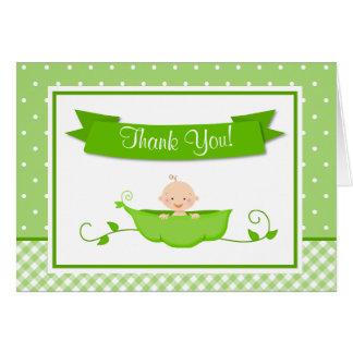 Os cartões de agradecimentos da ervilha doce