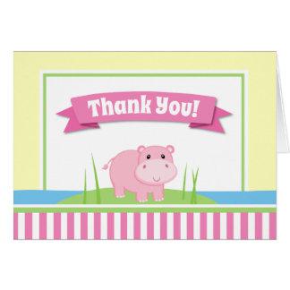 Os cartões de agradecimentos da menina do