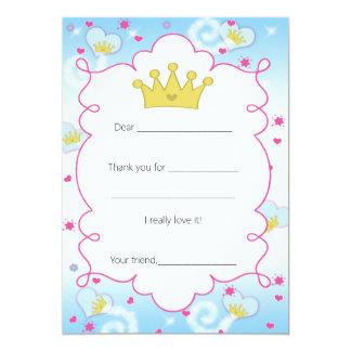Os cartões de agradecimentos da princesa Borboleta