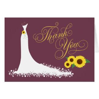 Os cartões de agradecimentos do chá de panela