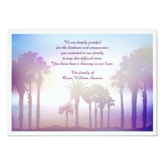 Os cartões de agradecimentos do falecimento das convite 12.7 x 17.78cm