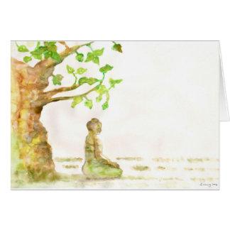 Os cartões de cumprimentos da árvore de Bodhi