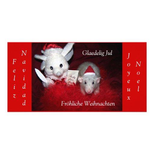 Os cartões de foto de Natal internacionais do rubi Cartoes Com Foto Personalizados