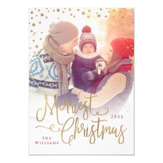Os cartões de foto de Natal os mais alegres Convite 12.7 X 17.78cm