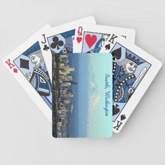 Os cartões de jogo chuvosos da cidade - Seattle, W Baralho Para Poker