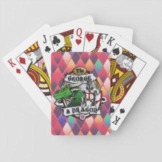 Os cartões de jogo de George e de dragão Baralho