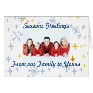 Os cartões de natal personalizam com foto de