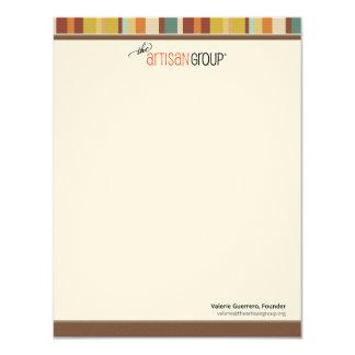 Os cartões de nota do grupo do artesão convite 10.79 x 13.97cm