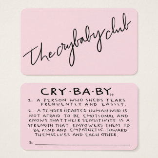 Os cartões de sócio do clube do Crybaby