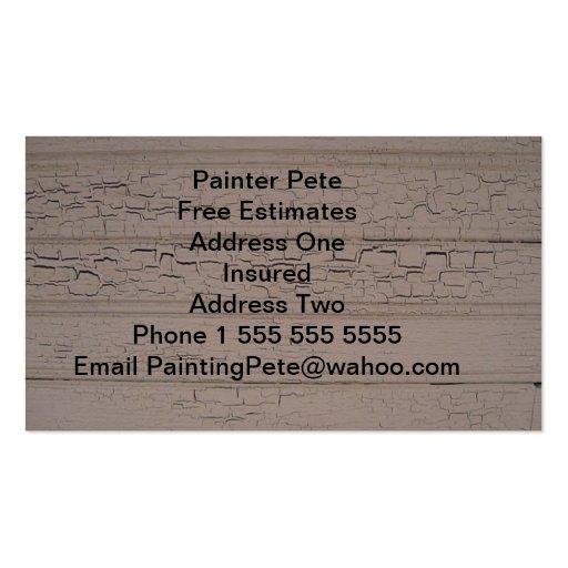 Os cartões de visitas do pintor