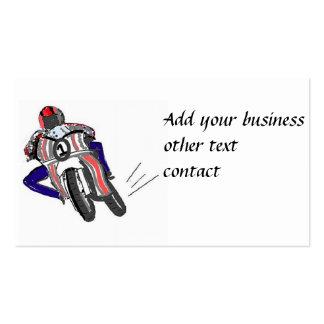 Os cartões de visitas rápidos do cavaleiro da moto