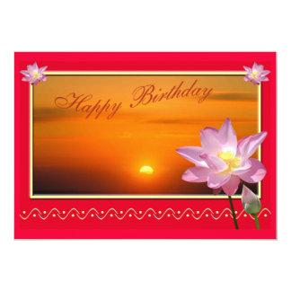 Os cartões do feliz aniversario do reciclado & convite personalizados