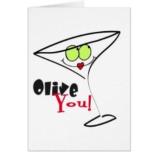 Os cartões dos namorados da azeitona você