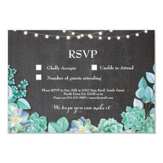 Os cartões dos Succulents da hortelã do giz do Convite 8.89 X 12.7cm