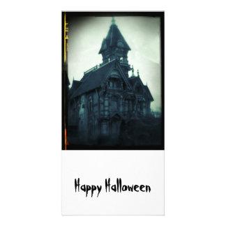 Os cartões felizes do Dia das Bruxas assombraram Cartões Com Fotos Personalizados