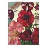 Os cartões florais bonito dos namorados de floresc