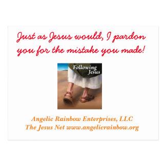 Os cartões líquidos do perdão de Jesus Cartão Postal