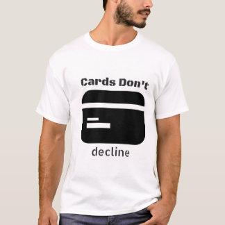 """Os """"cartões não fazem t-shirt do divertimento de camiseta"""