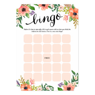 Os cartões nupciais os mais doces do Bingo do dia Convite 12.7 X 17.78cm