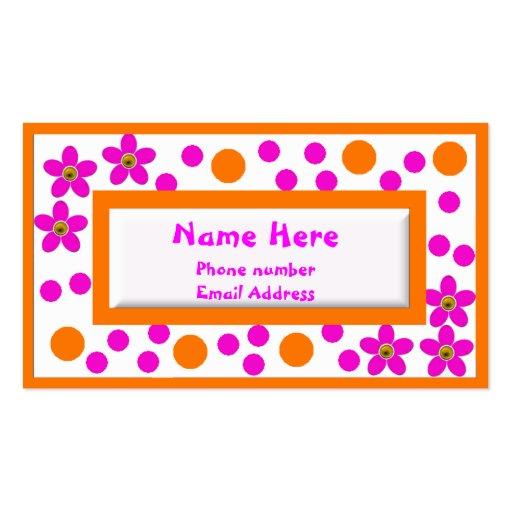 Os cartões telefónicos das crianças coloridas cartões de visita