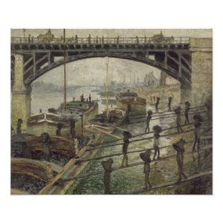 Os carvoeiros por Claude Monet Arte De Fotos
