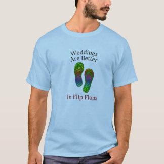 Os casamentos são melhores no casamento de praia camiseta