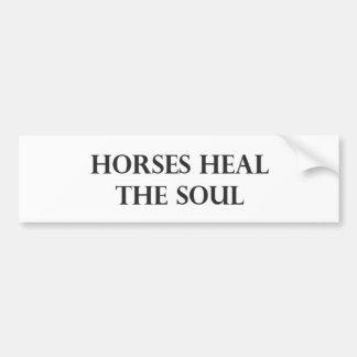 Os cavalos curam a alma adesivo para carro